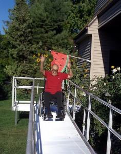 Wheelchair friendly home, ramp
