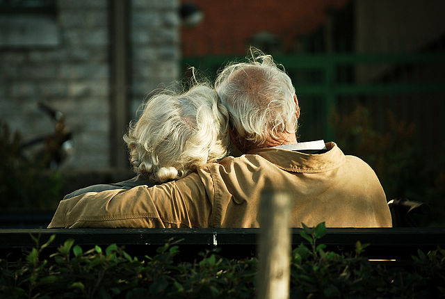 Elderly couple enjoy longer healthy life