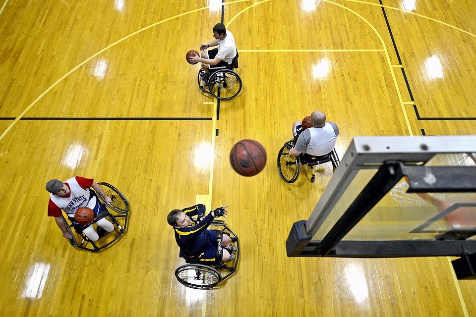 Wheelchair basketball players